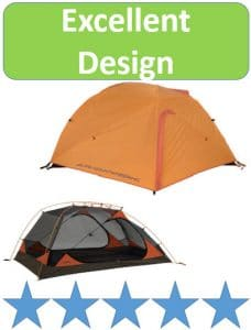 ALPS aries tents with and without rain fly