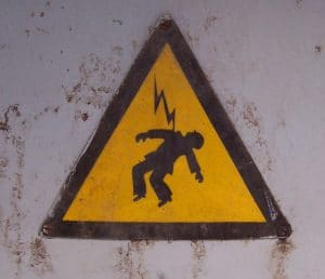 Sign of man hit by lightning