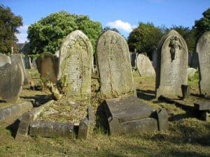 very old tombstones