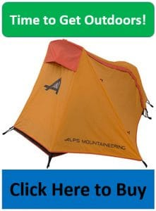 ALPS mystique tent with orange rain fly