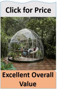 Clear garden dome tent