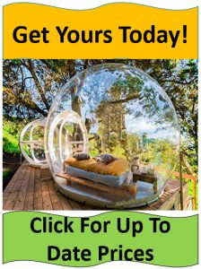 Transparent bubble tent glamping setup