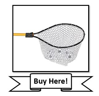 Frabill Conservation Series Clear Rubber Fishing Net
