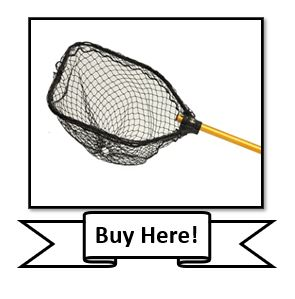 The Frabill Power Stow Poly Fishing Net with sliding handle