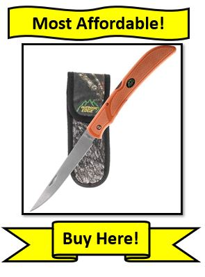 "Outdoor Edge Folding Fillet Knife - open with 5"" blade"