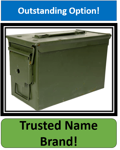 Military Issued U.S. G.I. 50-Caliber Ammo Box