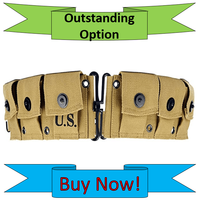 OLEADER WW2 US M1923 M1 Garand Rifle Cartridge Belt