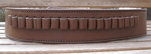 Country Western USA Brown Genuine Leather .45 Caliber Cartridge Gun Belt