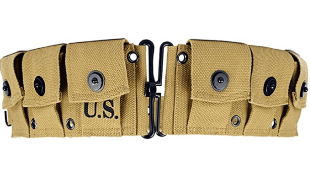 World War II U.S. M1923 M1 Garand Rifle Cartridge Belt